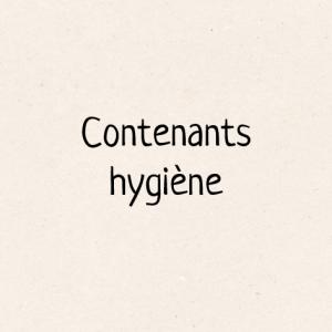 Contenants hygiène