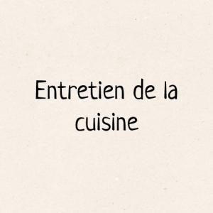 Entretien de la cuisine