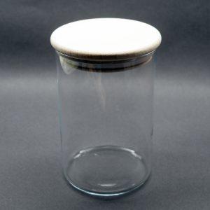 Bocal verre couvercle bois 0.8L