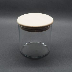 Bocal verre couvercle bois 0.5L