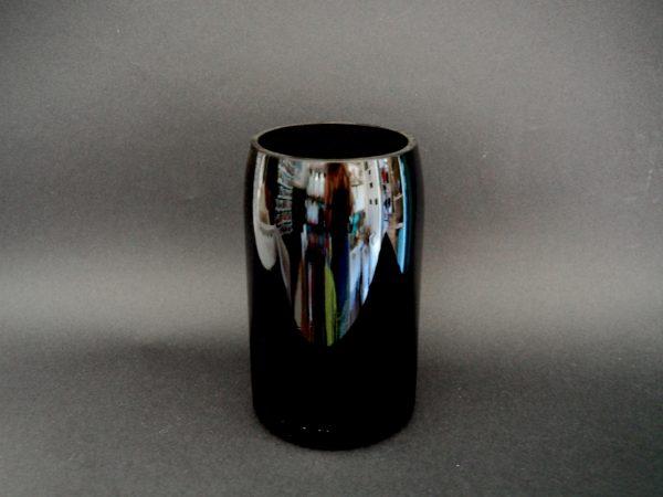 Vase Noir Opaque Ouverre